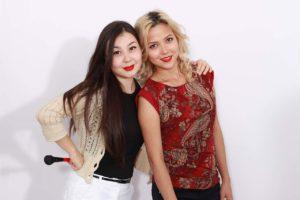 Данара Байдагулова с моделью